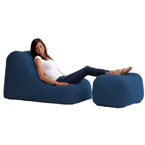 Comfort Research Fuf Bean Bag Wedge and Ottoman