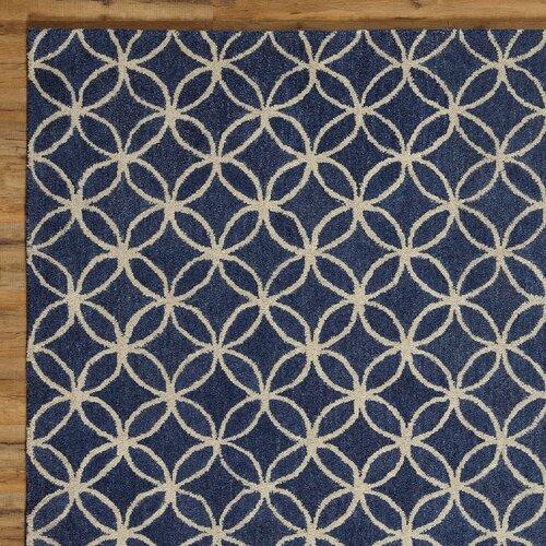 Birch Lane Kenzie Rug, Navy & Parchment