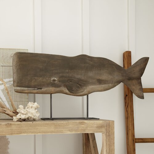 Mango Wood Whale Decor | Wayfair