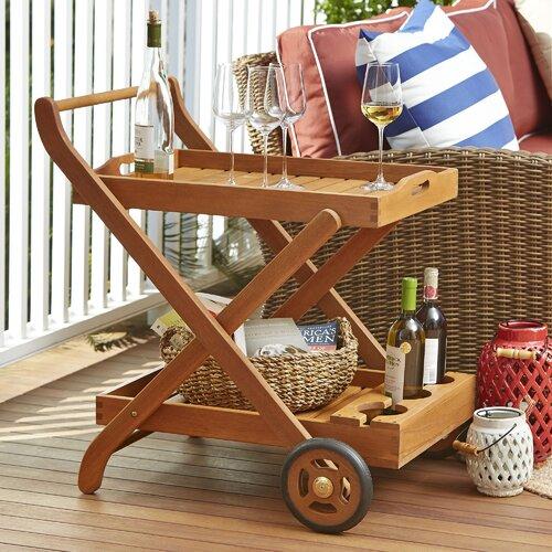 Eucalyptus Patio Serving Cart