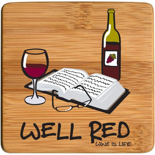 Well Red Bamboo Coaster (Set of 4)