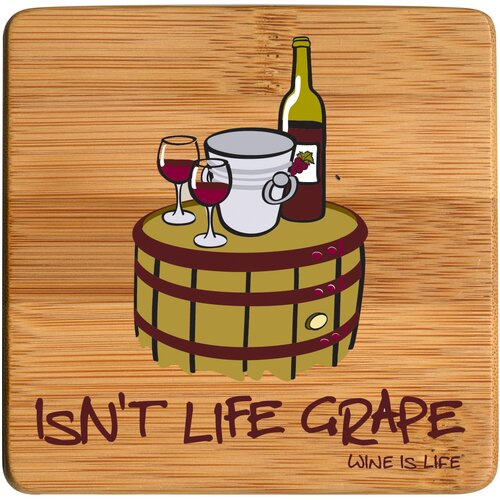 Isn't Life Grape Bamboo Coaster (Set of 4)