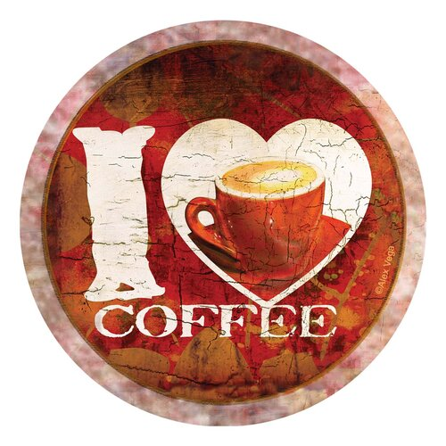 I Love Coffee Occasions Coaster (Set of 4)