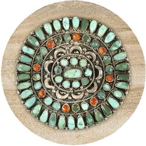 Turquoise Medallion Coaster (Set of 4)