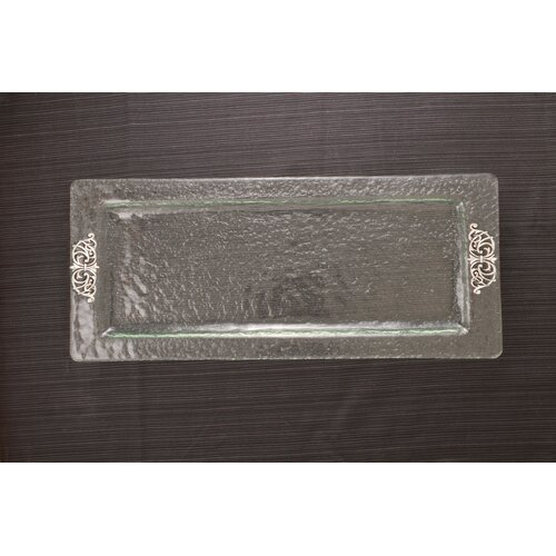 Thirstystone Scroll Glass Rectangular Serving Tray