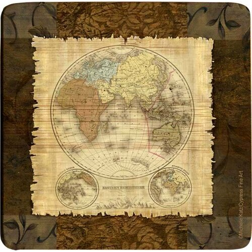 Western Hemisphere Bamboo Coaster (Set of 4)