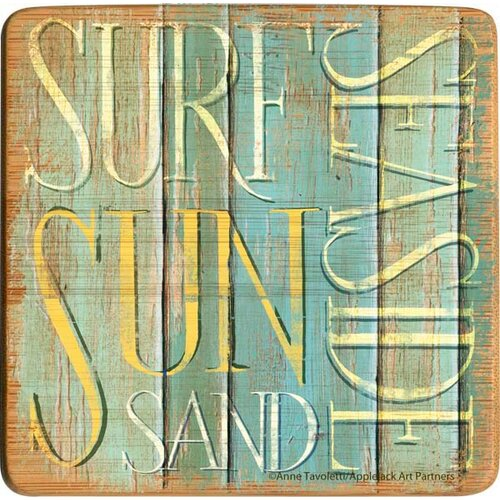 Seaside Essentials Bamboo Coaster (Set of 4)