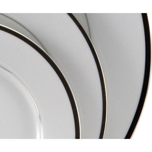 "Nikko Ceramics Sentiments Band of Platinum 10.5"" Dinner Plate"