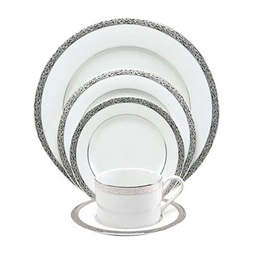 Sentiments Platinum Filigree 5 Piece Place Setting