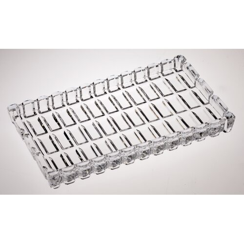 """Majestic Crystal 7"""" Crystal Rectangular Serving Tray"""