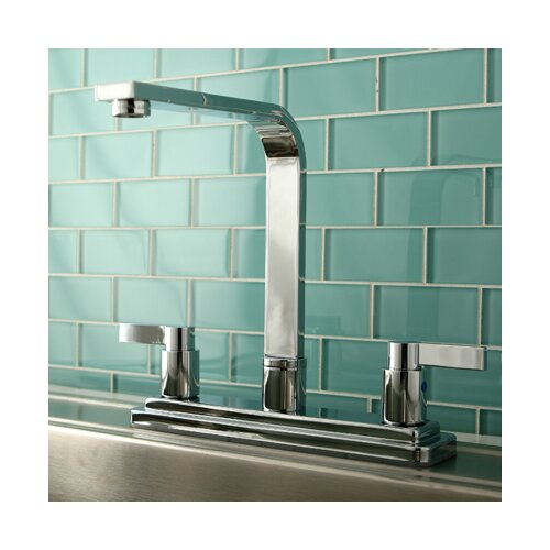 NuvoFusion Double Handle High Rise Spout Kitchen Faucet