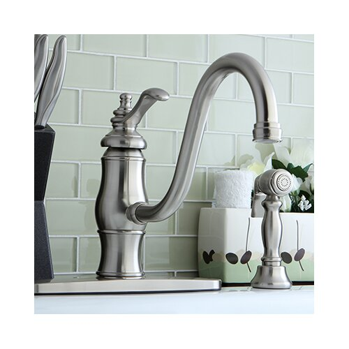 Heritage Single Handle Kitchen Faucet with Side Spray