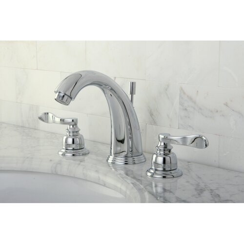 NuWave French Double Handle Widespread Bathroom Sink Faucet with Brass Pop-up