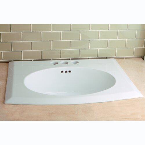 Kingston Brass Courtyard China Countertop Bathroom Sink