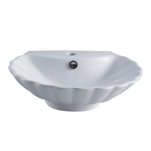 Oceana China Vessel Bathroom Sink with Overflow Hole and Faucet Hole