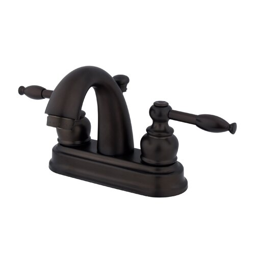Knight Double Handle Centerset Bathroom Faucet with ABS Pop-Up Drain