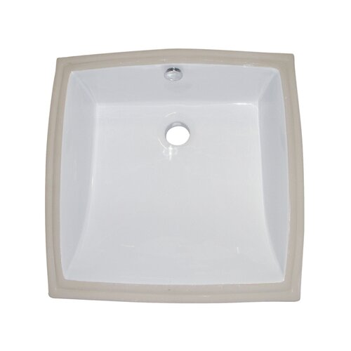 Cove China Under Mounted Bathroom Sink