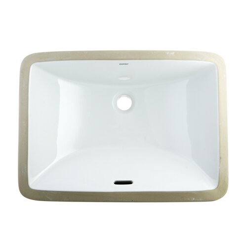 Bath Cove China Rectangle Under Mounted Bathroom Sink