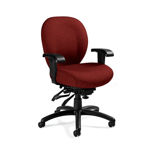 Global Total Office Mid-Back Multi-Tilter Office Chair with Arms
