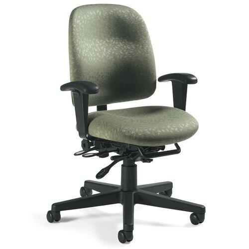 Global Total Office Granada Low-Back Pneumatic Multi-Tilter Office Chair