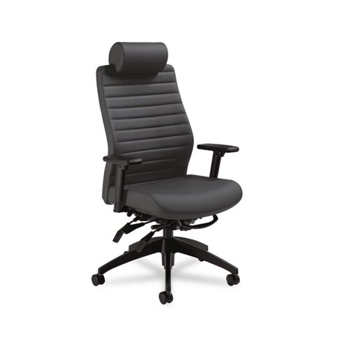 Global Total Office Aspen Series Executive Back Multi-Tilt Chair with Headrest