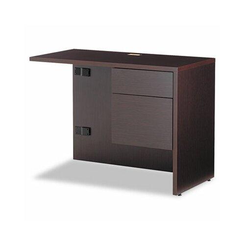 "Global Total Office Genoa 29"" H x 40"" W Box/File Drawer Pedestal Right  Return"