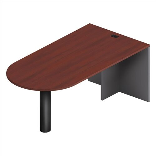 Global Total Office Adaptabilities Island Desk Shell with Full End Panel and Post