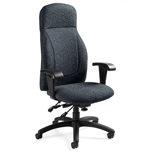 Global Total Office High-Back Multi-Tilter Office Chair with T-Arms