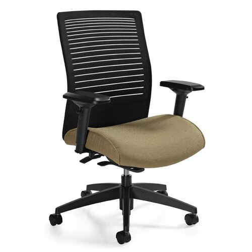 Global Total Office Medium Back Mesh Chair with Weight Sensing Synchro-Tilter