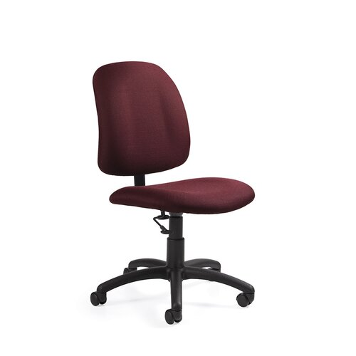 Global Total Office Low-Back Pneumatic Armless Task Chair