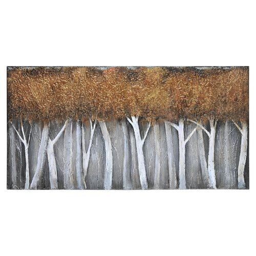 Bronze Birch by Patrick St. Germain Original Painting on Canvas