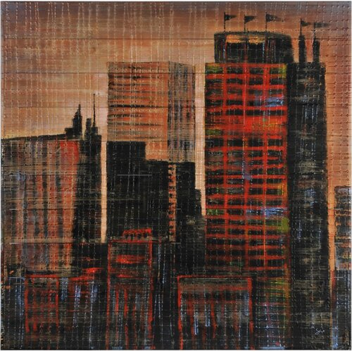 Sepia City by Giovanni Russo Original Panting on Canvas