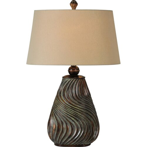 "Ren-Wil Wavy 29"" H Table Lamp with Empire Shade"