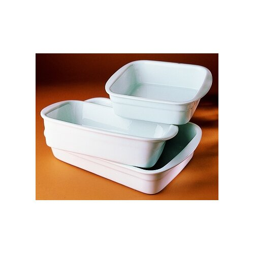 Pillivuyt 160 oz. Rectangular Deep Baker