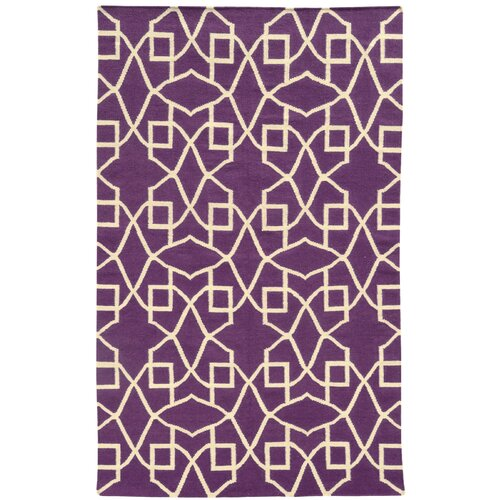 Matrix Purple Geometric Rug
