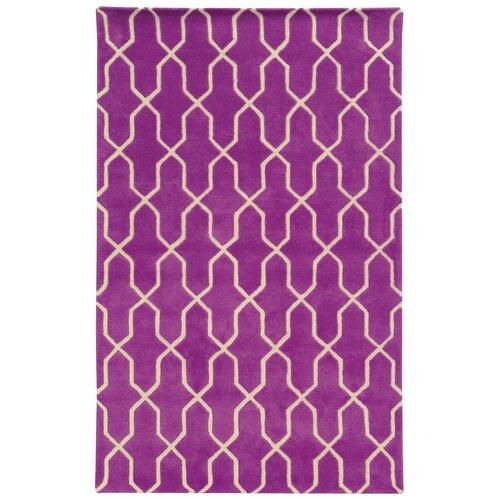 Optic Purple / Ivory Geometric Rug