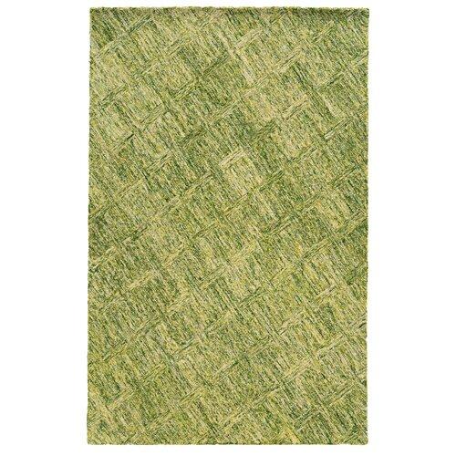 Colorscape Green Geometric Rug