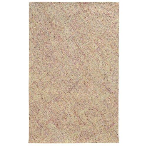 Colorscape Pink / Beige Geometric Rug