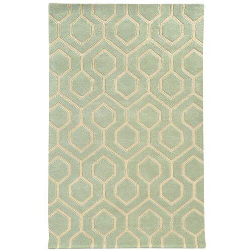 Optic Green / Ivory Geometric Rug