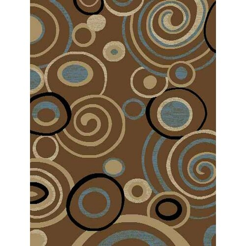 Royal Brown Scrolls Rug