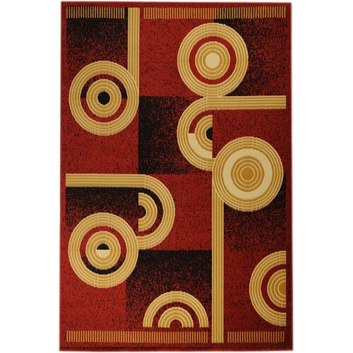 Paterson Dark Red Abstract Rug