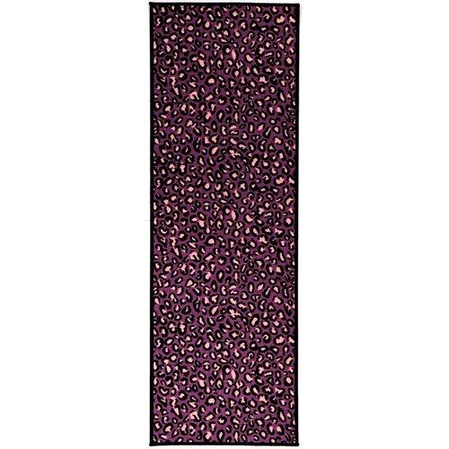 Pink Purple Animal Print Leopard Area Rug