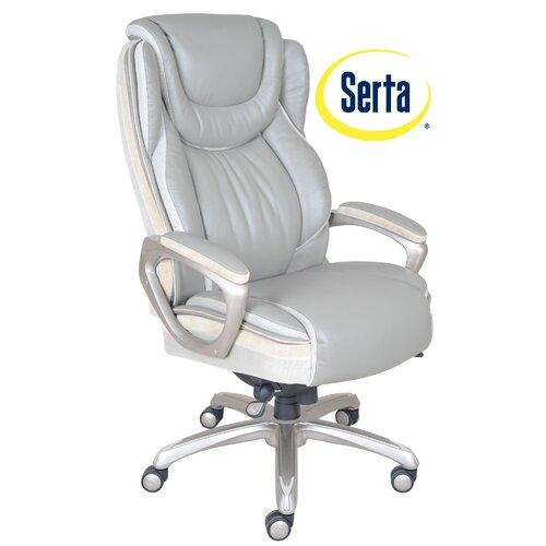 Serta At Home Serenity High Back Executive Office Chair Reviews Wayfair