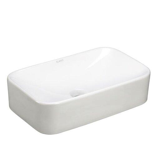 Porcelain Curved Rectangle Vessel Sink