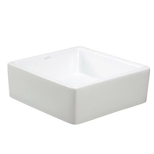 Porcelain Square Rounded Corner Vessel Sink