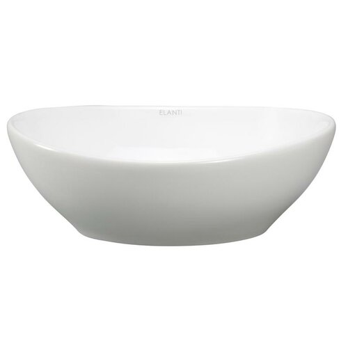 Deep Bowl Sink : Elanti Porcelain Oval Deep Bowl Vessel Sink & Reviews Wayfair