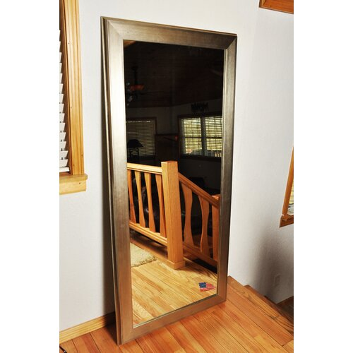 Brushed Silver Tall Mirror