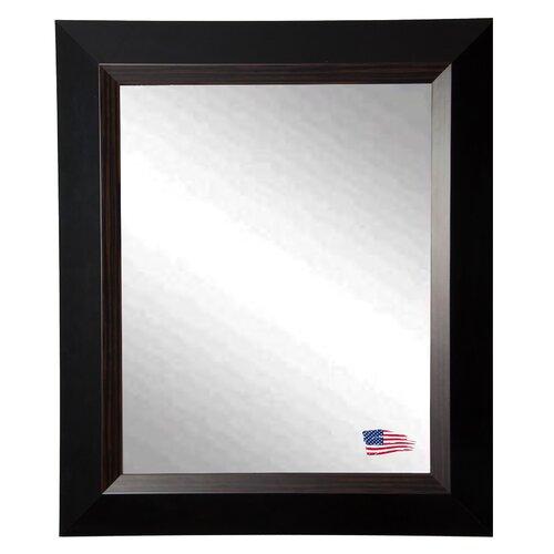 Brown Grain Black Wall Mirror