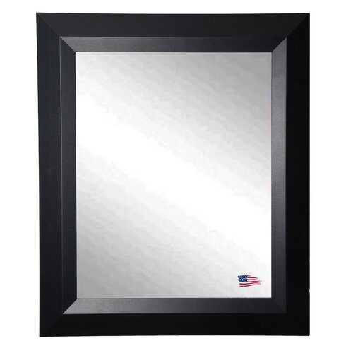 Ava Contemporary Matte Black Wall Mirror