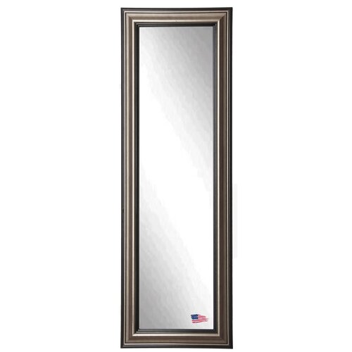 Silver frame horizontal mirror wayfair for Silver full length mirror